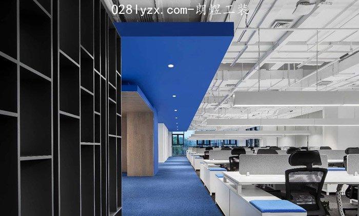 IT办公室办公区装修效果